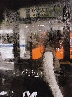 Saul Leiter Photography, Window & Man 2004. Saul Leiter photographs, Saul Leiter photos.