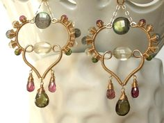 Luxury Gemstone Jewelry Handmade Wire Wrapped door AdornobyHolly