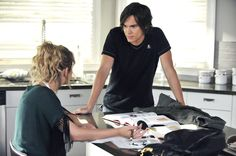 """""""Let the Water Hold Me Down"""" - Ashley Benson as Hanna Marin and Tyler Blackburn as Caleb in PRETTY LITTLE LIARS on ABC FAMILY."""