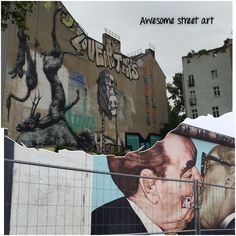 Berlin is well known for its street art. Don't confine yourself to the East Side Gallery though. It's everywhere. Kreuzberg has some great examples.