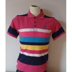 7e6d3a3883346 Camiseta Polo Listras Polo Wear