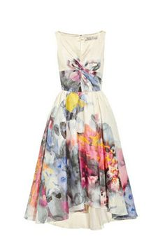 Printed voile dress by Lela Rose http://www.lelarose.com/