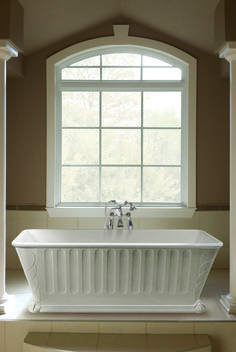 Want a 'wow' bath? Try this Maximus, it's cast in one piece and available from www.bcdesigns.co.uk