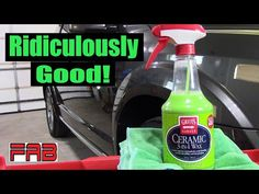 Finally Got to Try Griot's Garage Ceramic 3 in 1 Wax! Wow It's Ridiculously Good! - YouTube Spray Bottle, Cleaning Supplies, Automobile, Wax, Garage, Ceramics, Youtube, Car, Carport Garage