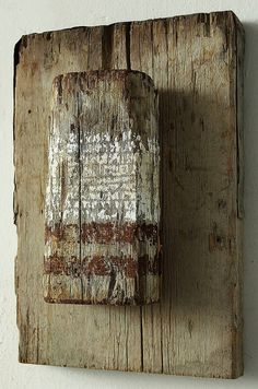 "Christian Hetzel ~ ""Rusty Lines"" ~ Mixed Media on Wood 2014"