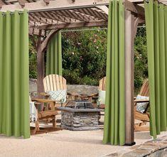 Sensational hot tub gazebo - make sure you visit our post for many more inspirations! Outdoor Curtains For Patio, Gazebo Curtains, Outdoor Privacy, Backyard Pool Landscaping, Backyard Gazebo, Diy Pergola, Outdoor Pergola, Indoor Outdoor, Pergola Ideas