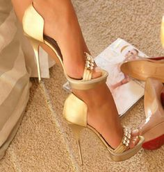 Glam Gold High Heels - I Love Shoes, Bags & Boys