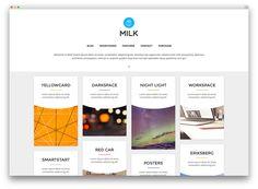 milk - personal portfolio theme