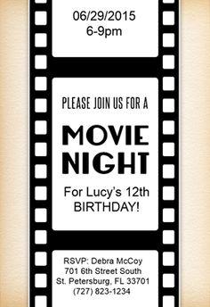 9d90c5dedc1a787fdc7fec9e066237e9 birthday invitation templates free printable birthday invitations family movie night ideas and planning tips movie night,Customize Invitations Free