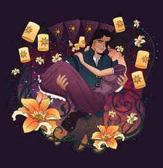 Magical Moment: Rapunzel and Eugene by Grodansnagel.deviantart.com on @DeviantArt