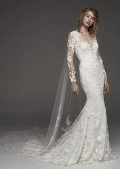 Pronovias Wedding Dresses - Hibiscus Sirena Manga 9b61e4a1d76d