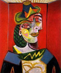 "Dora Maar by Pablo Picasso | Pablo Picasso - ""Portrait de Dora Maar"". 1936 г"