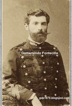 Mayor Gumersindo Fontecilla. 1879 ingresa al ejército como alférez de artillería. Asciende a Teniente y pelea en Dolores. 1880 asciende a Capitán y pelea en Tacna y Chorrillos. En 1883, con el grado de Mayor, al mando de toda la artillería participa en la Batalla de Huamachuco con una destacada actuación.