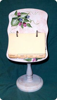 Hand Painted Recipe Card Holder