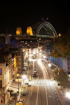 The Rocks and Harbour Bridge - Vivid Sydney 2011 by MrLemming68, via Flickr.....