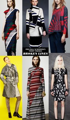 pattern people AW14 PRE FALL Print Trends BROKENLINES Runway | Pre Fall 14 Womens Print Trends