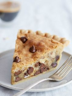 Iserved it warm with vanilla ice cream! Print Chocolate Chip Pie Ingredients 1 unbaked 9-inch deep-dish pie shell 4-cup volume, thawed 2 large eggs 1/2 cup all-purpose flour 1/2 cup granulated sugar 1/2 cup packed brown sugar 3/4 cup butter 1 1/2 sticks, softened 1 cup NESTLÉ® TOLL HOUSE® Semi-Sweet Chocolate Morsels 6 oz. …