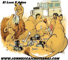 el leon y adan