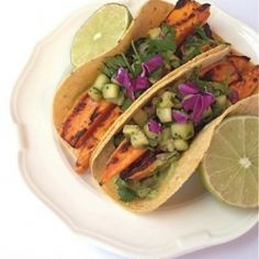 Sweet Potato Tacos, Cucumber Salsa HealthyAperture.com