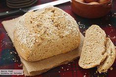 Receta de pan de avena escocés. Fotografías del paso a paso del proceso de elaboración. Foto con sugerencia de presentación. Olimpiada de recet...