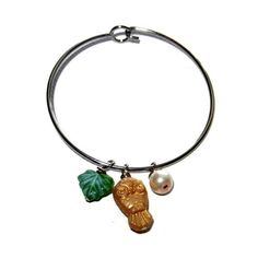 Nature Lover, Owl Silver Bangle Bracelet from CloudNineDesignz