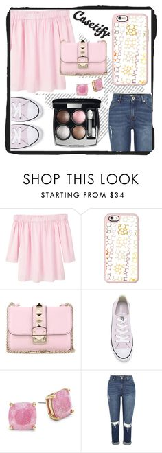 """Casetify"" by emmy-124fashions ❤ liked on Polyvore featuring Oris, MANGO, Casetify, Valentino, Converse, Kate Spade and Chanel"