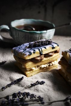 ..Twigg studios: earl grey and vanilla bean mille feuille with lavender aka london fog