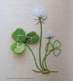 Ribbon Embroidery Flowers by Hand - Embroidery Patterns Brazilian Embroidery Stitches, Learn Embroidery, Hand Embroidery Stitches, Silk Ribbon Embroidery, Crewel Embroidery, Vintage Embroidery, Embroidery Techniques, Embroidery Needles, Flower Embroidery