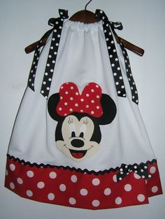 Minnie Mouse White and Red Dot Appliqued Full by mistysboutique, $20.00