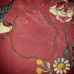 "Vintage Children's 14K Gold Ball Necklace 15"""