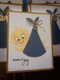 Houses Built of Cards: Baby Shower invites