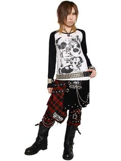 Custom STUDS DRAPE Bondage Pants Plaid Red x Silver. See more at: http://www.cdjapan.co.jp/apparel/sexpot.html #punk #jrock