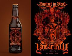 Unearthly apresenta o rótulo da cerveja 'Baptized In Blood'