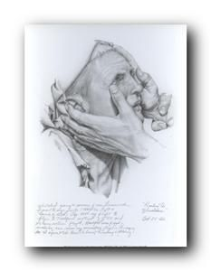 Blind Man Sketch by Liz Lemon Swindle
