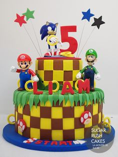 sonic and mario birthday cake - Google Search