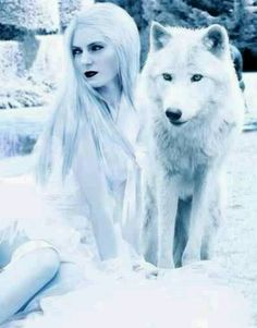 wolf wolves fantasy animal woman anime queen snow gothic spirit animals