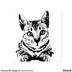Custom Pet Image Rubber Stamp