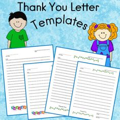 Thank You Letter Templates for Students First Grade Lessons, First Grade Teachers, Thank You Letter Template, Letter Templates, Friendly Letter, Writing Skills, My Teacher, Teacher Resources, Second Grade