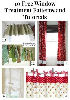 This list of 10 Free Window Treatment Patterns and Tutorials will help you make curtains, valances, and custom window treatments on a budget. dIY home decor idea for your home and bedroom. Design your own curtains. Sewing Patterns Free, Free Sewing, Budget, Boho Home, How To Make Curtains, Custom Window Treatments, Leftover Fabric, Sewing Projects For Beginners, Diy Projects