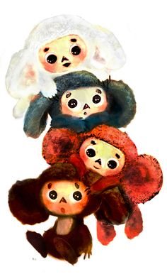 Is it a mouse? Is it a bear? Dunno, but he's pretty cute. We have three talking Cheburashka's at home and my three year old loves him. Russian sweet cute animation character. USSR kids movies. Traditional series.