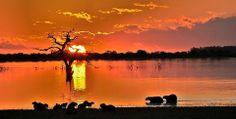 pôr-do-sol em Uruguaiana - RS