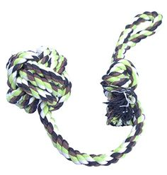 Woo Woo Pets Chew Rope with Cotton Rope Ball Dog Chewing Toy ** You can find more details by visiting the image link. This is an Amazon Affiliate links.
