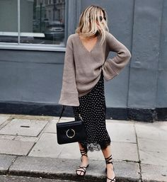 Love the bell sleeves on this sweater