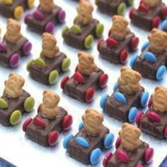 Teddy Bear Race Cars Treat Recipe