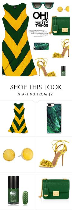 """In La La Land..."" by rasa-j ❤ liked on Polyvore featuring Slater Zorn, Casetify, Kate Spade, Aquazzura, Henri Bendel, TOMS, yellowdress and womensFashion"