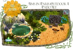 TS2 to TS4: Sims in Paris Outdoor Patio Set at Daer0n – Sims 4 Designs • Sims 4 Updates