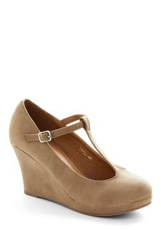 Dashing to Dinner Wedge in Sand, #ModCloth @Breanna Foley  @Christin Olch @Samantha Hodgson @Delilah Strukel @Nancy & Sarah Novak @Katelyn Rose  What do you think of these as possible bridesmaid shoes girls?