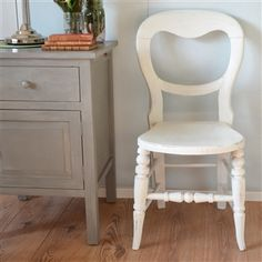 White Balloon Back Chair  | West Egg Online Boutique Homewares Store | Antique and Vintage Furniture | Decorative Home Accessories