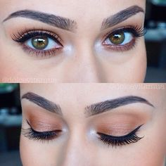 Gold shimmery eye look.✖️More Pins Like This One At FOSTERGINGER @ Pinterest✖️