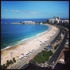 Praia de Copacabana em Rio de Janeiro, RJ